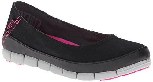 crocs Flat Black/Light Grey, US