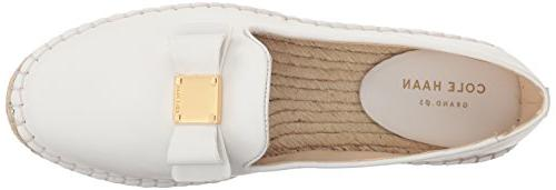 Cole Haan Women's Bow Espadrille Loafer, Leather,