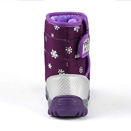 KONFA Teen Girls Boys Warm Snow 4-8 Anti-Slip Rubber Crib Shoes