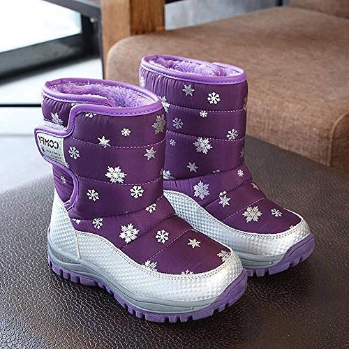 KONFA Teen Baby Girls Boys Winter Warm Snow Anti-Slip Rubber Sole Crib