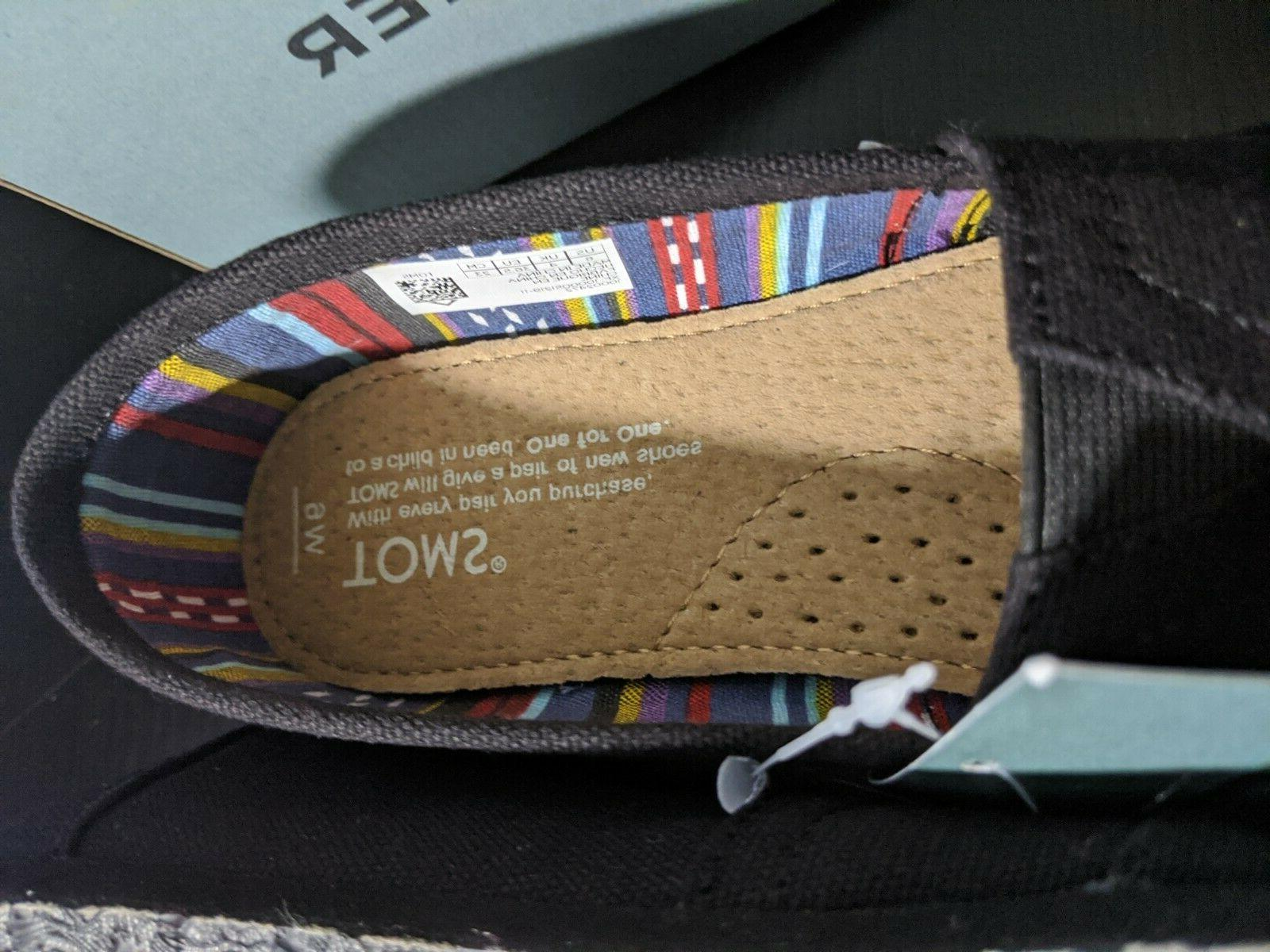 Toms Slip-On Black Size