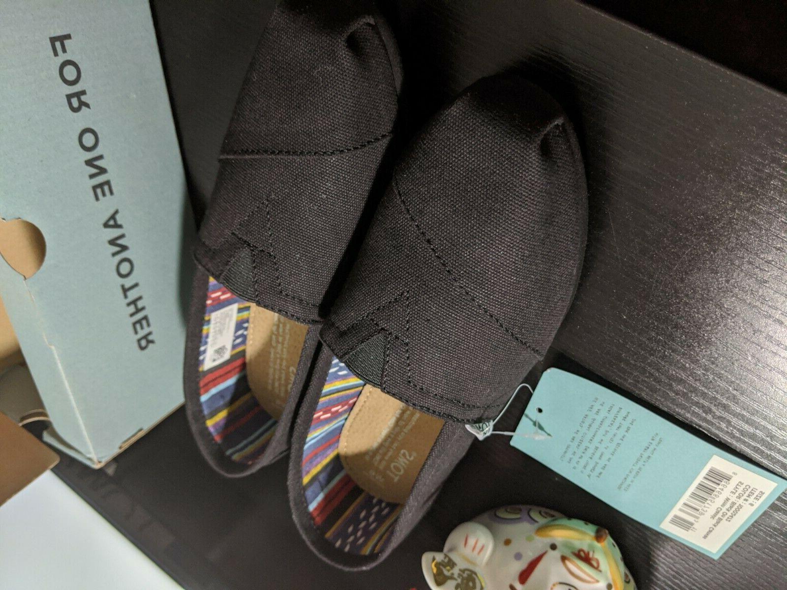Toms Classics Canvas Slip-On Black Shoes