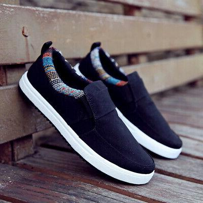 US Casual Canvas Loafers Breathable Shoes on