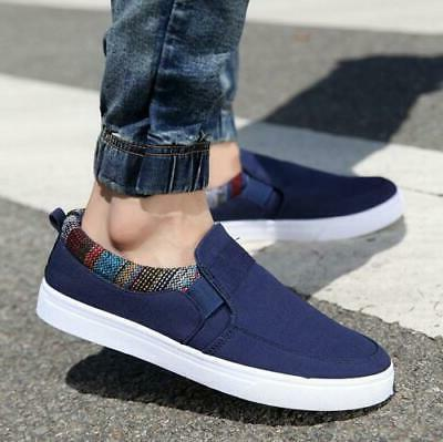 us men s casual canvas loafers breathable