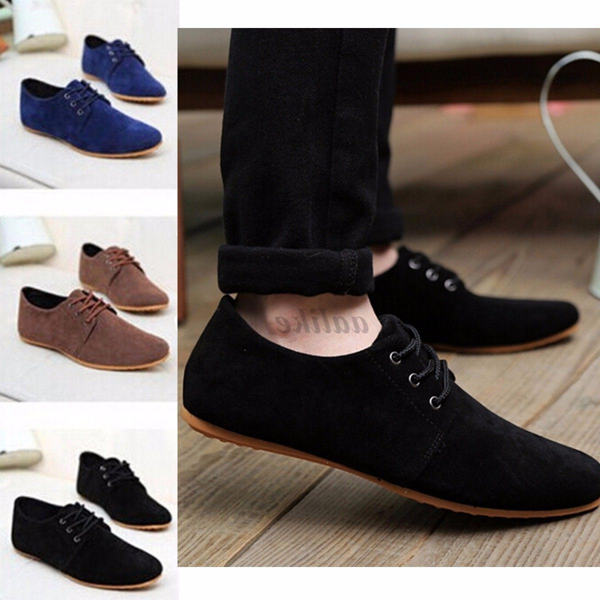 us men s casual shoes suede lace