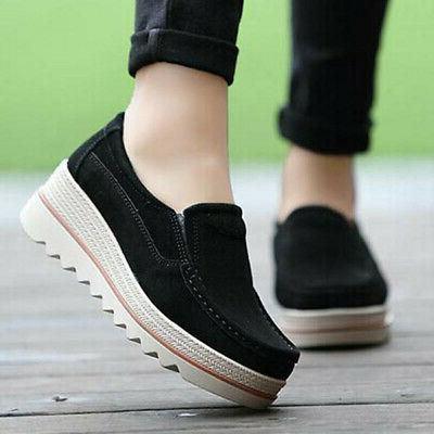 US Women Ladies Casual Creepers Shake Shoes