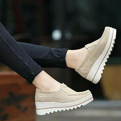 US Ladies Creepers Slip On Shake Shoes