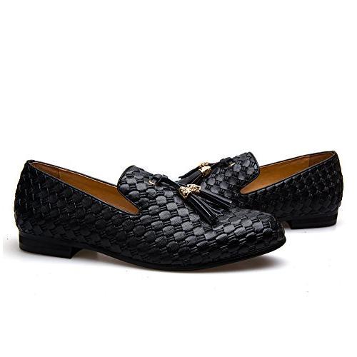 Men's Vintage Embroidery Noble Slip-on Tassel Loafer Us,