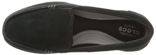 crocs Women's Walu Suede Boat Black, 7
