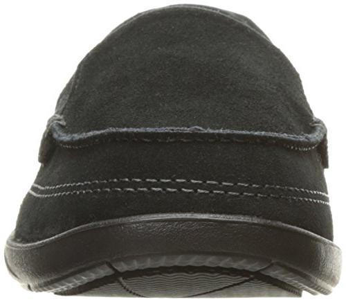 crocs Walu II Suede Boat Shoe, Black,