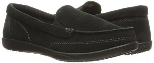 crocs II Suede Loafer Black, 7 US