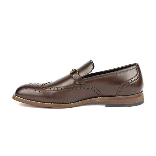 Bruno Brown Dress Loafers Slip On Dress Shoes Size 6.5 M US