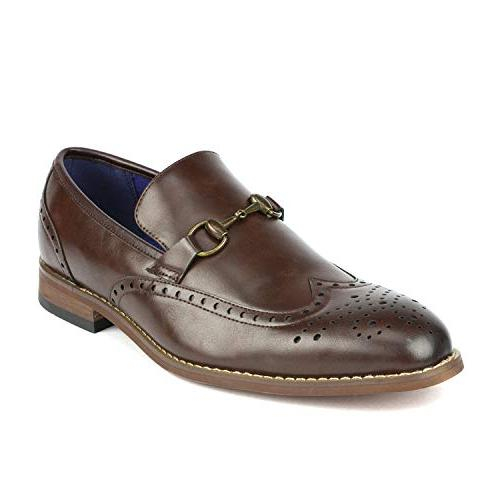 william 5 brown dress loafers