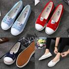 Women Casual Canvas Athletic Sport Shoes Pumps Slip On Flat