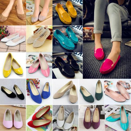 Women Ballet Dolly Csaual Shoes Slip Size