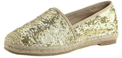 Bella Marie Women's Closed Toe Slip-on Glitter Woven Espadri