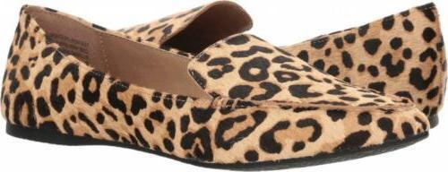 women s featherl loafer flat leopard 10