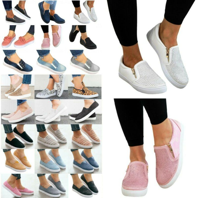 women s flats sneakers loafers slip on