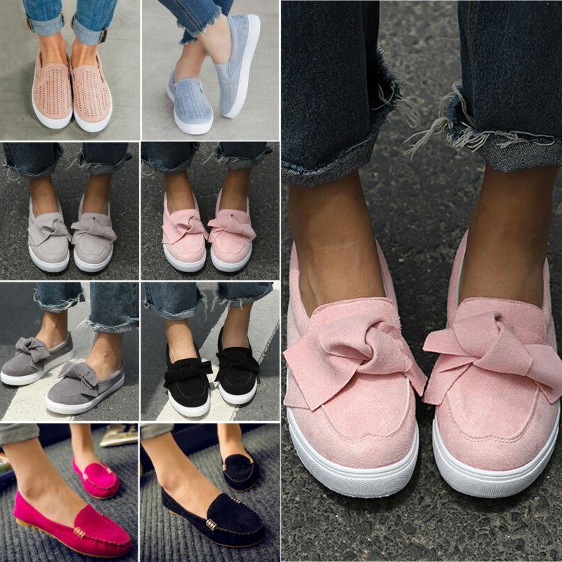 Women's Ladies School Bow Creeper Shoes