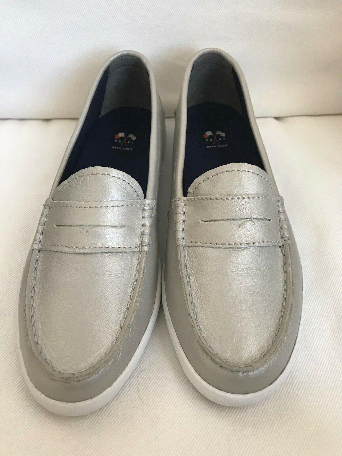 women s nantucket loafer argento metallic size