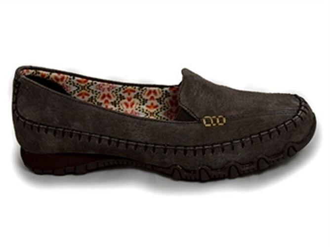 women s pedestrain 48930 brown leather flats