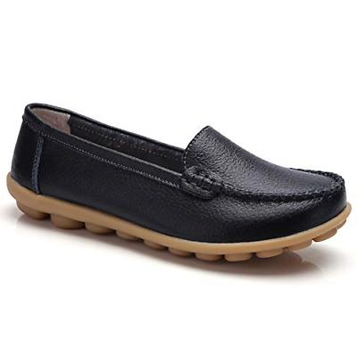 Harence Women's Soft Comfort Leather Loafers Slip On Driving