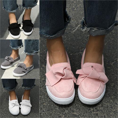 Women's Trainers Flat Sneaker Ladies Slip Walking Sports Casual