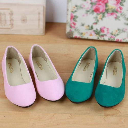 Women Flats Pumps Ballet Dolly Dress Shoes On Size