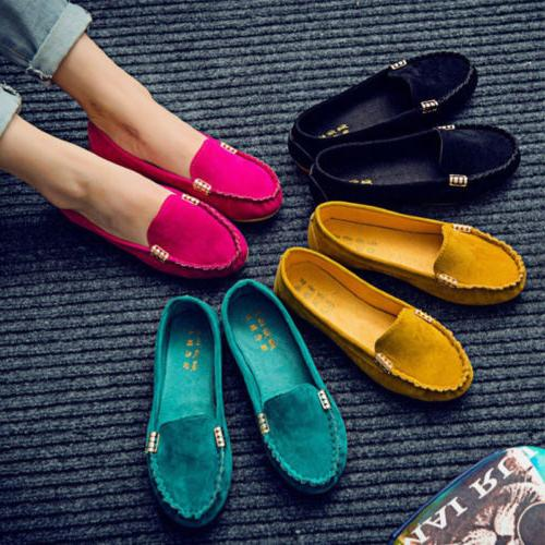 Women Flats Pumps Ballet Dolly Csaual Shoes Loafers Size