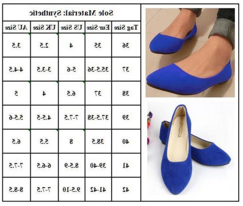 Women Ballet Dolly Dress Shoes Size