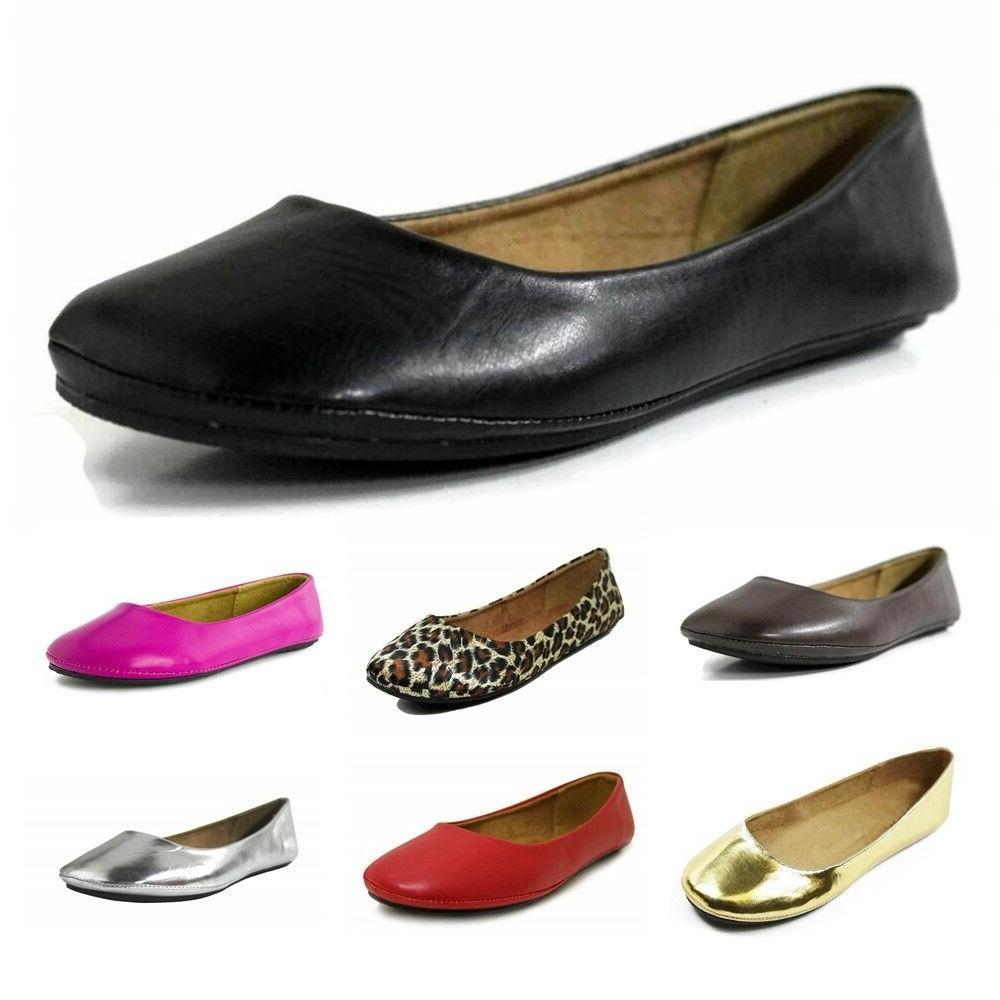 womens ballet flat comfort classic slip on