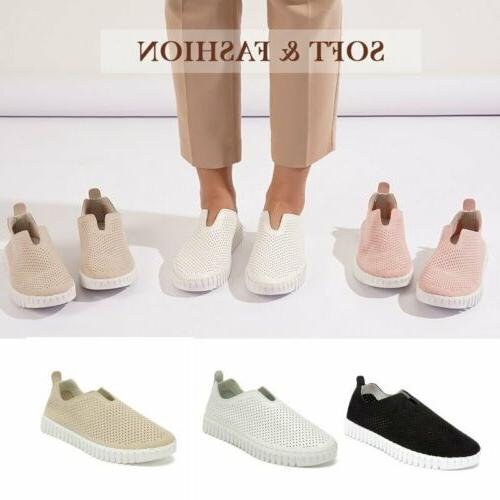 womens breathable sneaker loafers comfortable flat shoes