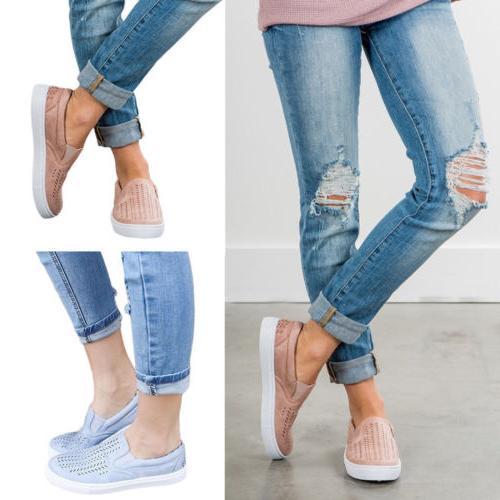 Women's Trainers Flat Loafers Sneaker Walking Casual