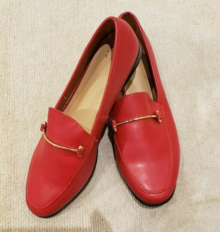 womens perry loafers red size 10 new