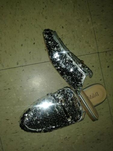 womens sequin horsebit slip on oxford loafer