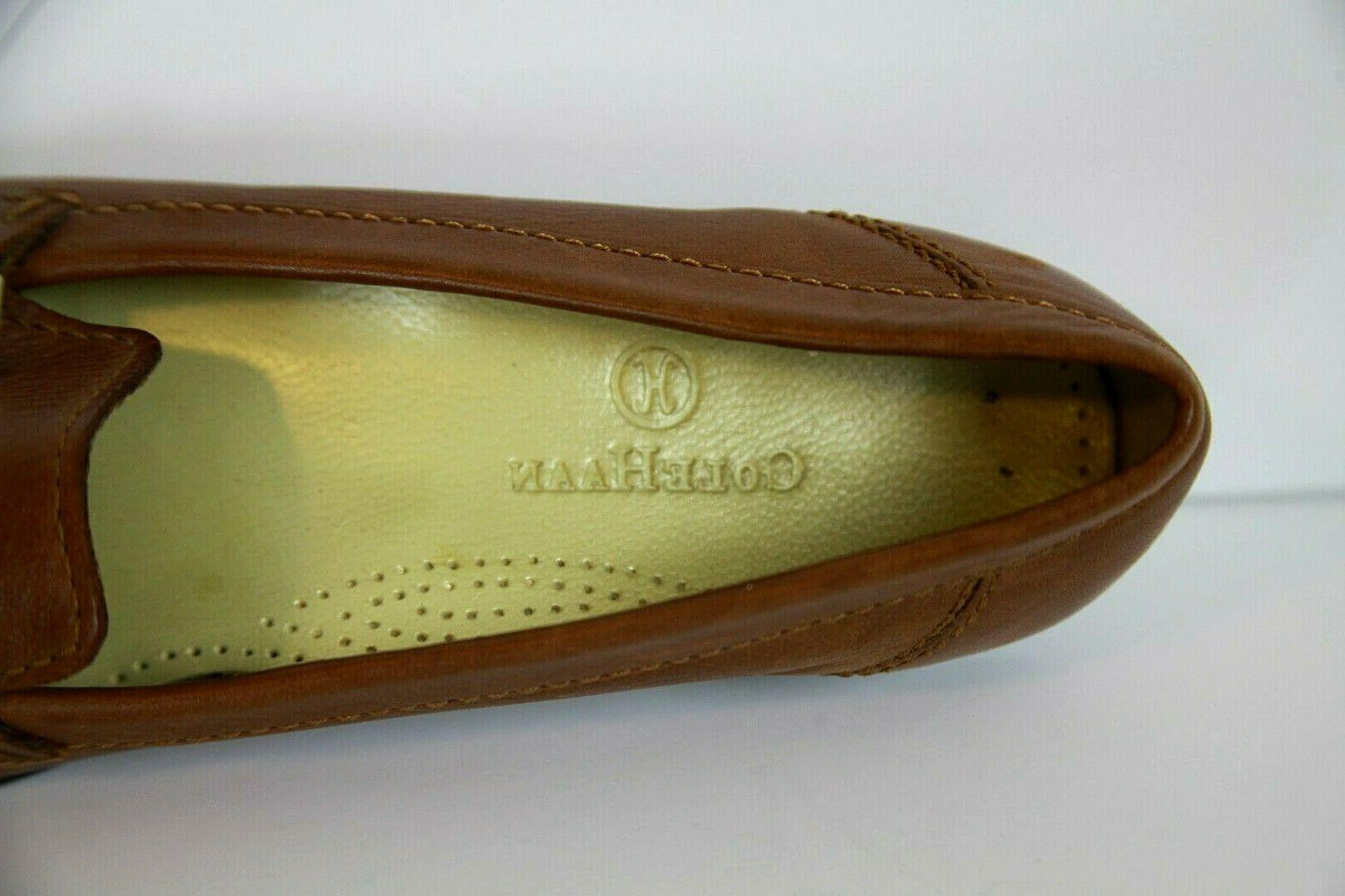 Cole Haan Size 7B Loafers Dress Brown Leather Hardware