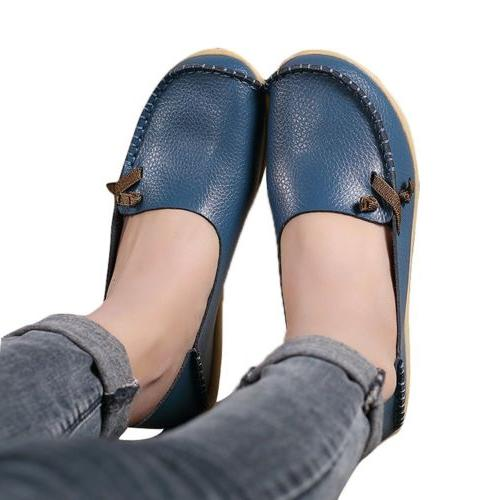 womens soft leather comfort driving loafers shoes