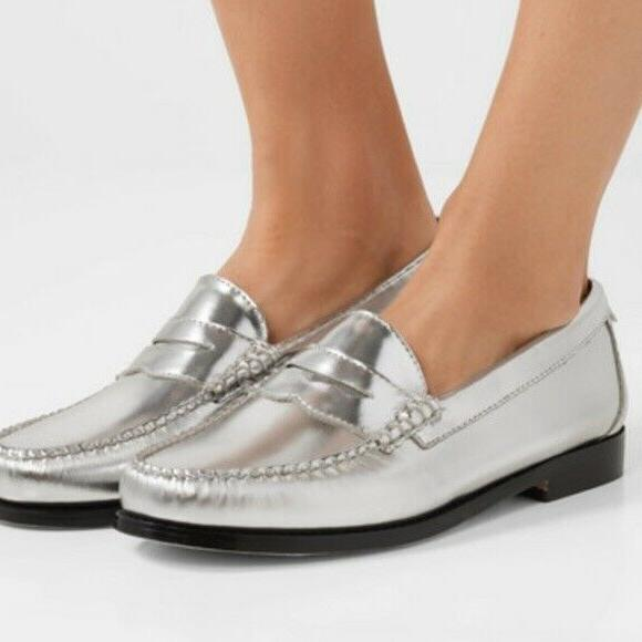 WOW! X Weejuns silver loafers size 5