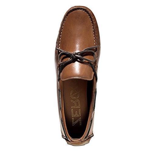 Cole Men's Zerogrand Camp Style Loafer, Papaya/tan, Medium US