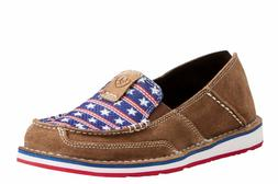 Ariat® Ladies Cruiser Dirty Tan Stars & Stripes Slip-On Sho