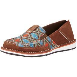 Ariat Ladies Cruiser Saddle Tan Suede/Aztec Print Shoe 10019