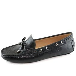 Driver Club USA Womens Leather Nantucket Tie-Bow Loafer Driv