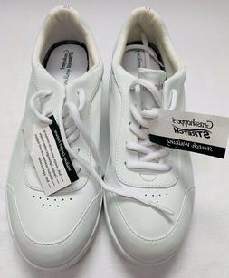 Grasshoppers Leather Stretch Walking Tennis Shoes Sz 8 NWT