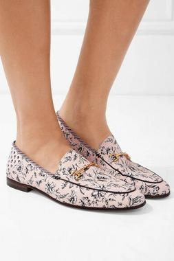 Sam Edelman 'Loraine' leather-trimmed printed canvas loafers