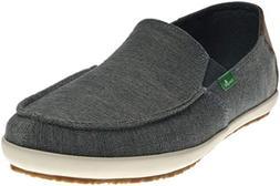 Sanuk Men's M Casa Vintage Slip-On Loafer, Blue, 9.5 M US