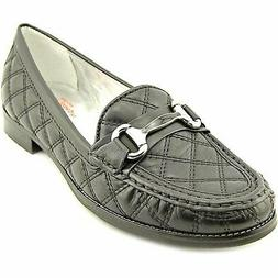 Madison Quilted Women's Quilted Loafers, Black Quilt, Size 5