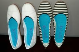 Blowfish Malibu flats canvas loafer shoes women's size 11 se