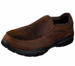 Skechers Men Brown Shoes Memory Foam Slip On Comfort Casual