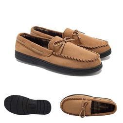 Men Casual Micro Suede Slip On Indoor Outdoor Rubber Sole Mo