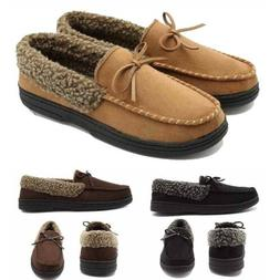 Men Fur Rubber Sole Shoes Lining Suede Soft Flats Comfy Driv